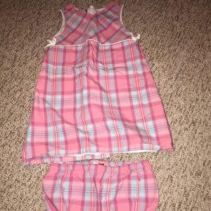 Tommy Hilfiger Girls Plaid Dress w/bloomers 3T